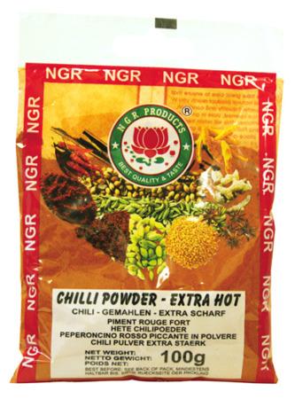 Chili mielone, ekstra ostre 100g - NGR