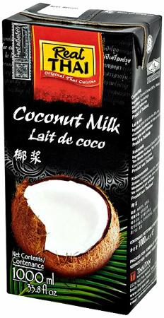 Mleko kokosowe (85% wyciągu z kokosa) w kartonie 1L - Real Thai