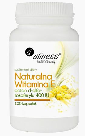 Naturalna witamina E octan d-alfa-tokoferylu 400 IU - 100 kapsułek