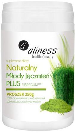 Naturalny Młody Jęczmień PLUS + FIBREGUM™ (błonnik akacjowy)  w proszku 250g