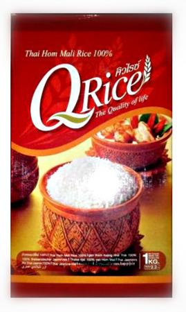Ryż jaśminowy długoziarnisty QRice 1kg